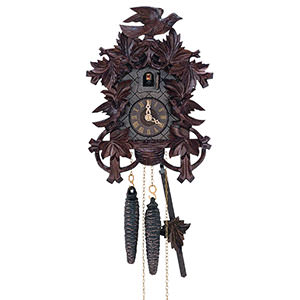 Carved Cuckoo Clocks Cuckoo Clock 1-day-movement Carved-Style 27cm by Anton Schneider