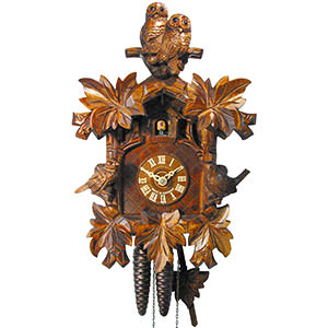 Carved Cuckoo Clocks Cuckoo Clock 1-day-movement Carved-Style 32cm by August Schwer