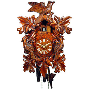 Carved Cuckoo Clocks Cuckoo Clock 1-day-movement Carved-Style 33cm by August Schwer