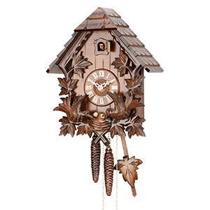 Chalet Cuckoo Clocks Cuckoo Clock 1-day-movement Carved-Style 34cm by Hekas
