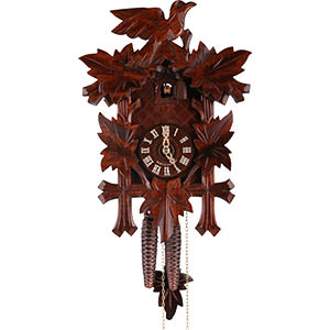 Carved Cuckoo Clocks Cuckoo Clock 1-day-movement Carved-Style 34cm by Hekas