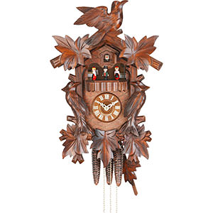 Carved Cuckoo Clocks Cuckoo Clock 1-day-movement Carved-Style 36cm by Hekas