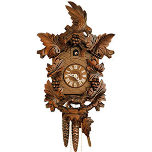 Carved Cuckoo Clocks Cuckoo Clock 1-day-movement Carved-Style 38cm by Hekas