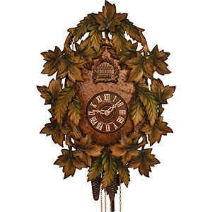 Carved Cuckoo Clocks Cuckoo Clock 1-day-movement Carved-Style 39cm by Anton Schneider