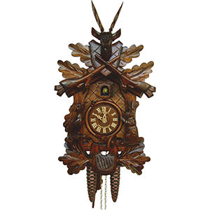 Carved Cuckoo Clocks Cuckoo Clock 1-day-movement Carved-Style 40cm by Anton Schneider