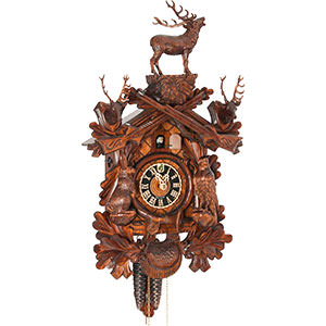 Carved Cuckoo Clocks Cuckoo Clock 1-day-movement Carved-Style 40cm by Hönes