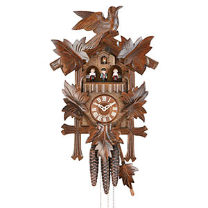 Carved Cuckoo Clocks Cuckoo Clock 1-day-movement Carved-Style 40cm by Hekas