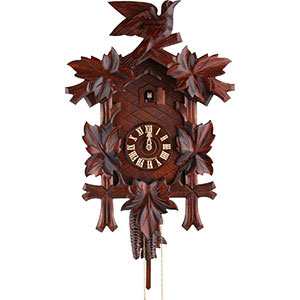 Carved Cuckoo Clocks Cuckoo Clock 1-day-movement Carved-Style 45cm by Hekas