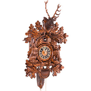 Carved Cuckoo Clocks Cuckoo Clock 1-day-movement Carved-Style 46cm by Hönes