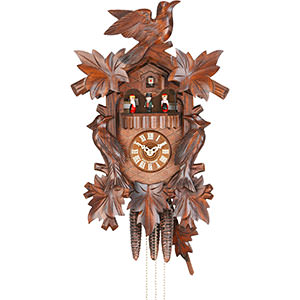 Carved Cuckoo Clocks Cuckoo Clock 1-day-movement Carved-Style 46cm by Hekas