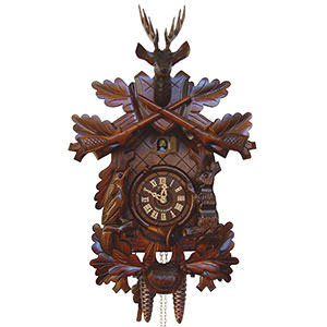 Carved Cuckoo Clocks Cuckoo Clock 1-day-movement Carved-Style 48cm by Anton Schneider