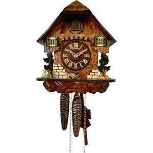 Chalet Cuckoo Clocks Cuckoo Clock 1-day-movement Chalet-Style 21cm by Anton Schneider