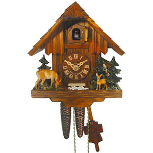 Chalet Cuckoo Clocks Cuckoo Clock 1-day-movement Chalet-Style 21cm by August Schwer