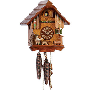 Chalet Cuckoo Clocks Cuckoo Clock 1-day-movement Chalet-Style 22cm by Anton Schneider