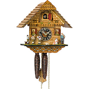 Chalet Cuckoo Clocks Cuckoo Clock 1-day-movement Chalet-Style 23cm by Hönes