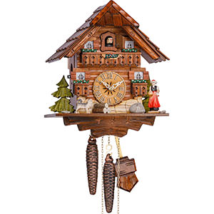 Chalet Cuckoo Clocks Cuckoo Clock 1-day-movement Chalet-Style 23cm by Hekas