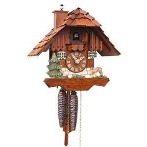 Chalet Cuckoo Clocks Cuckoo Clock 1-day-movement Chalet-Style 23cm by Rombach & Haas