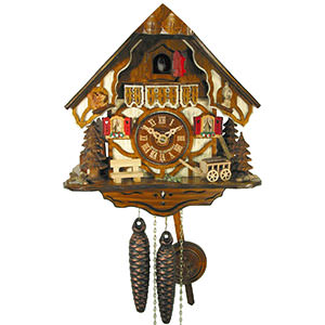 Chalet Cuckoo Clocks Cuckoo Clock 1-day-movement Chalet-Style 24cm by August Schwer