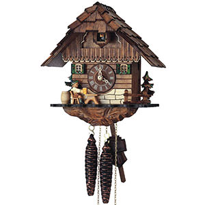 Chalet Cuckoo Clocks Cuckoo Clock 1-day-movement Chalet-Style 25cm by Anton Schneider