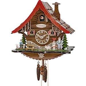 Chalet Cuckoo Clocks Cuckoo Clock 1-day-movement Chalet-Style 25cm by Engstler