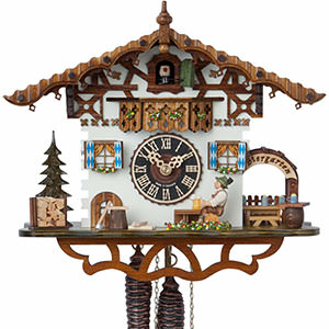 Chalet Cuckoo Clocks Cuckoo Clock 1-day-movement Chalet-Style 26cm by Hönes