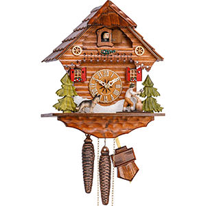 Chalet Cuckoo Clocks Cuckoo Clock 1-day-movement Chalet-Style 26cm by Hekas