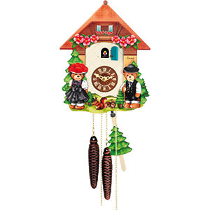 Chalet Cuckoo Clocks Cuckoo Clock 1-day-movement Chalet-Style 26cm by Hubert Herr