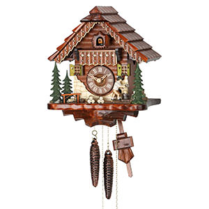 Chalet Cuckoo Clocks Cuckoo Clock 1-day-movement Chalet-Style 28cm by Hekas