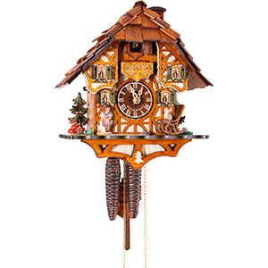 Chalet Cuckoo Clocks Cuckoo Clock 1-day-movement Chalet-Style 30cm by Anton Schneider