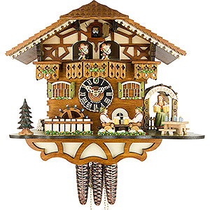 Chalet Cuckoo Clocks Cuckoo Clock 1-day-movement Chalet-Style 30cm by Hönes