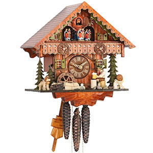 Chalet Cuckoo Clocks Cuckoo Clock 1-day-movement Chalet-Style 30cm by Hekas