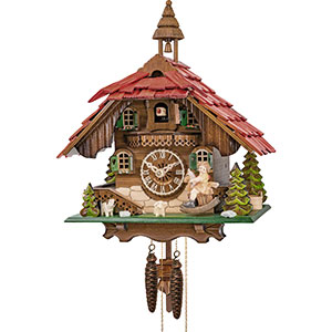 Chalet Cuckoo Clocks Cuckoo Clock 1-day-movement Chalet-Style 31cm by Engstler