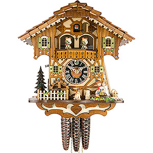 Chalet Cuckoo Clocks Cuckoo Clock 1-day-movement Chalet-Style 31cm by Hönes