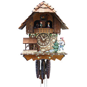 Chalet Cuckoo Clocks Cuckoo Clock 1-day-movement Chalet-Style 31cm by Rombach & Haas