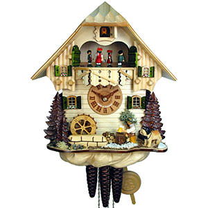 Chalet Cuckoo Clocks Cuckoo Clock 1-day-movement Chalet-Style 32cm by August Schwer