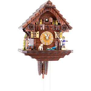 Chalet Cuckoo Clocks Cuckoo Clock 1-day-movement Chalet-Style 32cm by Hekas