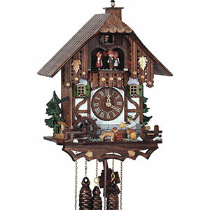 Chalet Cuckoo Clocks Cuckoo Clock 1-day-movement Chalet-Style 33cm by Anton Schneider
