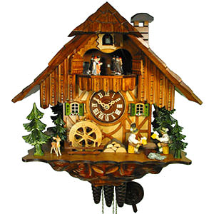 Chalet Cuckoo Clocks Cuckoo Clock 1-day-movement Chalet-Style 34cm by August Schwer