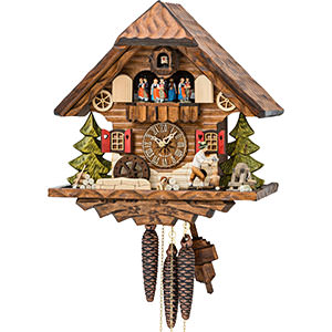Chalet Cuckoo Clocks Cuckoo Clock 1-day-movement Chalet-Style 34cm by Hekas