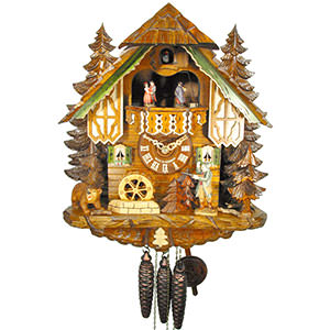 Chalet Cuckoo Clocks Cuckoo Clock 1-day-movement Chalet-Style 35cm by August Schwer
