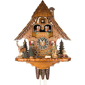 Chalet Cuckoo Clocks Cuckoo Clock 1-day-movement Chalet-Style 35cm by Hönes