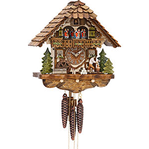 Chalet Cuckoo Clocks Cuckoo Clock 1-day-movement Chalet-Style 35cm by Hekas