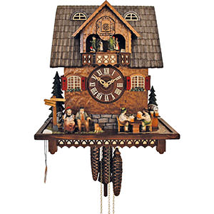 Chalet Cuckoo Clocks Cuckoo Clock 1-day-movement Chalet-Style 36cm by Anton Schneider