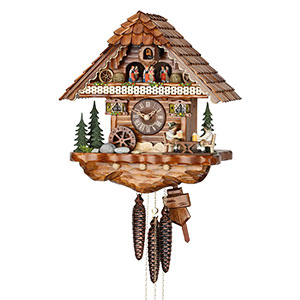 Chalet Cuckoo Clocks Cuckoo Clock 1-day-movement Chalet-Style 36cm by Hekas