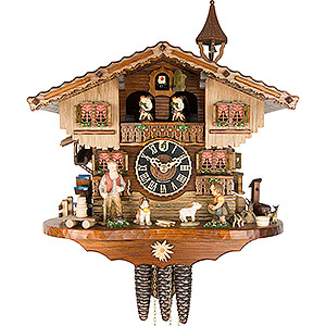 Chalet Cuckoo Clocks Cuckoo Clock 1-day-movement Chalet-Style 37cm by Hönes