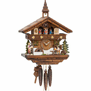 Chalet Cuckoo Clocks Cuckoo Clock 1-day-movement Chalet-Style 39cm by Hekas