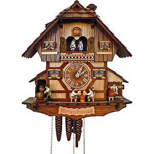 Chalet Cuckoo Clocks Cuckoo Clock 1-day-movement Chalet-Style 41cm by Anton Schneider