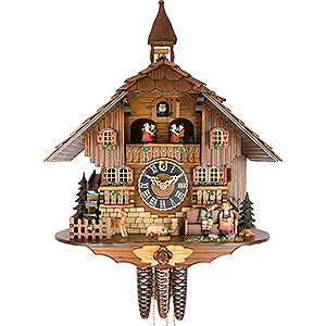 Chalet Cuckoo Clocks Cuckoo Clock 1-day-movement Chalet-Style 42cm by Hönes
