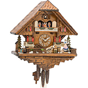 Chalet Cuckoo Clocks Cuckoo Clock 1-day-movement Chalet-Style 42cm by Hekas