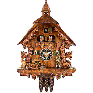 Chalet Cuckoo Clocks Cuckoo Clock 1-day-movement Chalet-Style 44cm by Hönes